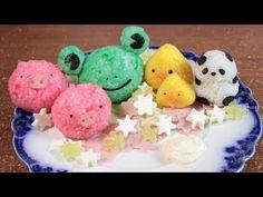 ➪ Cómo Hacer Onigiris? ♡ Onigiris En Forma De Animalitos! ☆ (Bolas De Arroz) - Miranda Ibañez - YouTube