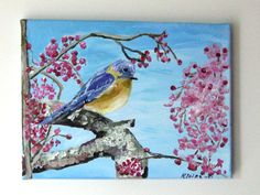 Art Original PaintingAcrylic Fine ArtWrapped Canvas by MysticSilks, $35.00