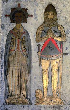 Sir William Bagot and Margaret (His wife) Baginton Castle 1407 (Warwickshire - England)