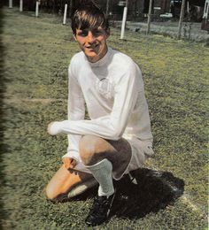 July 1969. Leeds parade Allan Clarke, their new £165,000 signing from relegated Leicester City.