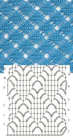 Watch This Video Beauteous Finished Make Crochet Look Like Knitting (the Waistcoat Stitch) Ideas. Amazing Make Crochet Look Like Knitting (the Waistcoat Stitch) Ideas. Crochet Stitches Chart, Crochet Motifs, Crochet Diagram, Crochet Squares, Filet Crochet, Knit Crochet, Crochet Flower, Beau Crochet, Tutorial Crochet