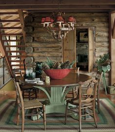 log dining room