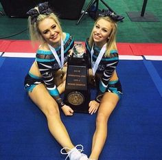 Cheer Sport Great White Sharks Lindsay Everson and Jenna Dodunski(?)