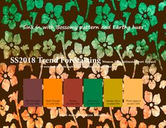 Spring Summer 2018 Fashion Trend Forecasting for Women, Men, Intimate, Sport Apparel - Sink in with Bossomy pattern and Earthy hues www.JudithNg.com