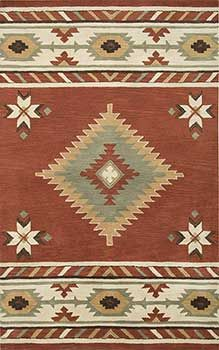 Southwest-SU1822 -- Southwest style, earth tones. Make your Santa Fe, New Mexico or Arizona style house look even more beautiful.