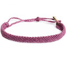 Flat Braided Fuchsia - Pembe Bileklik - Sınırlı sayıda #elyapimi her bileğe göre #ayarlanabilir #rengarenk örgü  #bileklik takı tasarımı, Pura Vida Bracelets, #alisveris www.bolindo.com