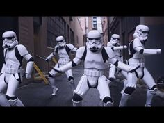 """CAN'T STOP THE FEELING! - Justin Timberlake (Stormtroopers Dance Moves & More) PT 2 - YouTube This is the one with lots of the """"baby mirror"""" folks and some very cool edits in the middle from classics."""