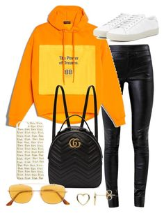 """""""Untitled #23204"""" by florencia95 ❤ liked on Polyvore featuring Helmut Lang, Gucci, Yves Saint Laurent, RetroSuperFuture and Estella Bartlett"""
