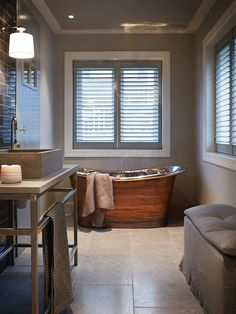 Hus Voksenkollen — Corniche Interior Design Lodge Bathroom, Laundry Room Bathroom, Master Bathroom, Bathrooms, Best Interior, Interior Design, Classic Bathroom, Log Homes, Design Firms