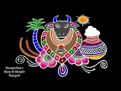 Rangoli Designs For Competition, Free Hand Rangoli Design, Rangoli Border Designs, Rangoli Designs With Dots, Rangoli Designs Images, Rangoli With Dots, Beautiful Rangoli Designs, Simple Rangoli, Rangoli Borders