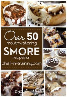 OVER 50 mouthwatering S'MORE recipes. Everything looks amazing! Just Desserts, Delicious Desserts, Dessert Recipes, Yummy Food, Tasty, Dinner Recipes, Yummy Treats, Sweet Treats, So Little Time