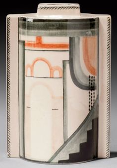 A GLAZED CERAMIC VASE, BY ROBERT LALLEMANT, CIRCA 1930