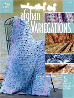 Afghan Variegations: Crocheters love variegated yarns, but finding a pattern that adequately shows off the variegations of color can sometimes be difficult. Kim Guzman makes it easy with this collection of afghans that features six different patterns for designing beautiful afghan variegations.