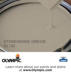 STONEHENGE GREIGE OL132 is a part of the beiges collection by Olympic® Paint.
