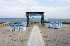 perfect beach wedding ceremony