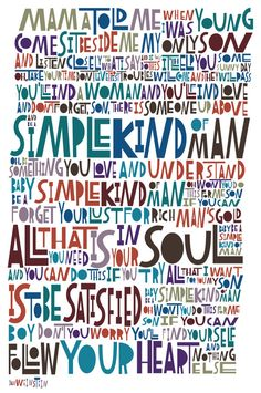 LyricArt: Lynyrd Skynyrd Simple Man Signed & by RocknRollLyricArt