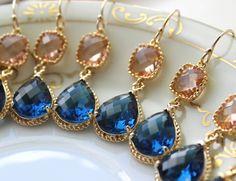 10 OFF SET OF 4 Wedding Jewelry Bridesmaid Earrings by laalee, $140.40