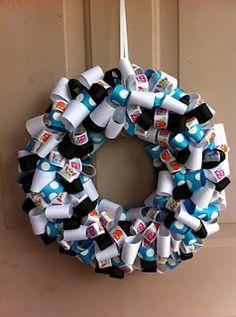 """""""Origami Owl"""" wreath I made!"""