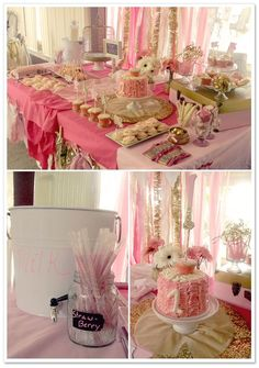This could easily be the color scheme for a baby shower, birthday party, or even an engagement party.