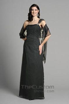 A-line Asymmetric Floor-length Chiffon Satin Bridesmaid Dresses 14305328