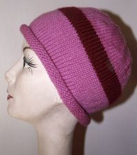 This is a charity craft pattern for a chemo cap with a rolled brim.