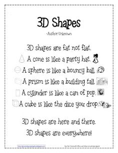 Kinder Learning Garden Blog: Teaching 3D Shapes--several activities here!