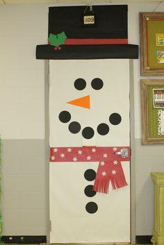 Snowman Classroom Door Cover