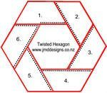 JMD Designs Tutorial- English Paper Piecing - Twisthed Hexagon with Hand Quilting (diagram shows the proportions) Quilting Tutorials, Quilting Projects, Quilting Designs, Paper Piecing Patterns, Quilt Block Patterns, Hexagon Quilting, Quilt Blocks, Hexagon Quilt Pattern, Patchwork Quilting
