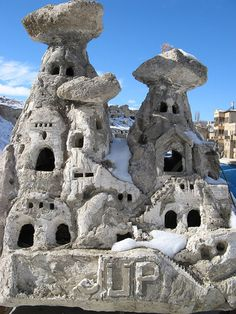 Cave house statues - Turkey by Kit Caufield, via Flickr