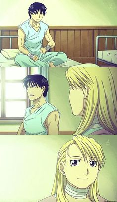 Roy Mustang and Riza Hawkeye        _Fullmetal Alchemist Brotherhood