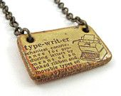 Typewriter Necklace (Dictionary Jewelry)