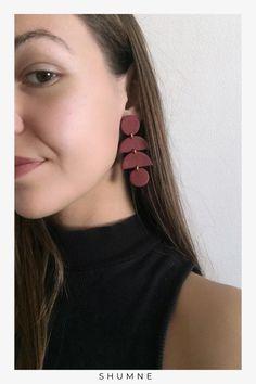 Handmade Polymer Clay Stud Earrings Unique Earrings, Etsy Earrings, Earrings Handmade, Unique Jewelry, Etsy Handmade, Handmade Items, Woman Fashion, Boho Fashion, Fashion Jewelry