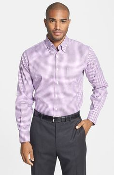 Men's Peter Millar 'Nanoluxe' Regular Fit Wrinkle Free Check Sport Shirt