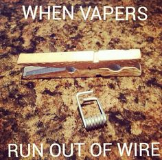 When Vapers run out of wire. Vape Memes, Fruit Jam, Vape Tricks, Mixed Fruit, Vape Juice, Electronic Cigarette, Coding, Pure Products, Wire