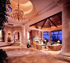 luxury interior house design for you 8 > Fieltro. Deco Design, Design Case, Foyer Design, Luxury Interior, Home Interior Design, Mansion Interior, Beautiful Interiors, Beautiful Homes, House Rooms