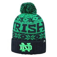 cheap for discount 8b664 5758a Subarctic Knitted Notre Dame Fighting Irish Hat with Pom