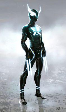 "cyrail: ""sekigan: "" X-Tron: The Future Begins by Adnan Ali Fantasy Character Design, Character Design Inspiration, Character Concept, Character Art, Xmen, Armor Boots, Drag Queen Outfits, Robot Art, Robots"