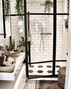 To Expect From White Subway Tile Bathroom 99 White Subway Tile Bathroom, Best Bathroom Tiles, Dream Bathrooms, Amazing Bathrooms, White Tiles, Brown Bathroom, Gold Bathroom, Bathroom Ideas, White Tile Bathrooms