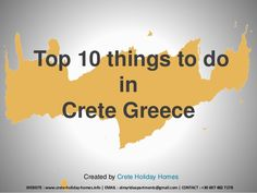 Top 10 Things to do in #Crete #Greece