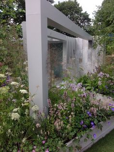 Water feature in the Garden of Solitude at the RHS Hampton Court Flower Show 2014, designed by Alexandra Froggatt.