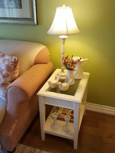 The LIATORP end table. Liatorp, Home Living Room, Living Room Designs, Living Spaces, Hemnes, Family Room Decorating, Love Your Home, White Furniture, Living Room Inspiration