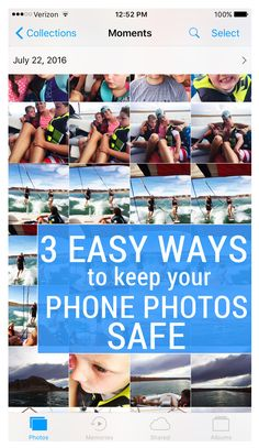 Super easy ways to back up the photos on your phone so you don't lose them.