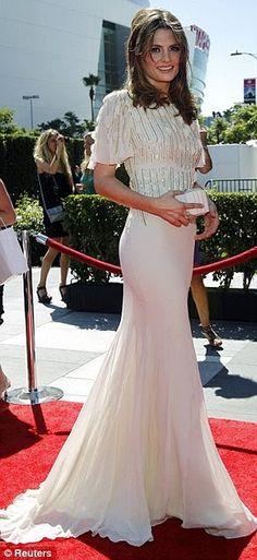 Stana Katic #white #dress