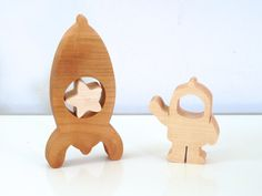 Cosmonaut rocket made from natural wood  //  Natural Organic Toys  for childs // Wooden toys  // Imagination kids