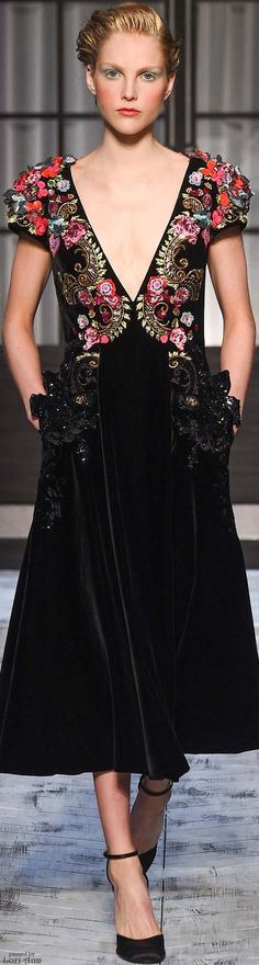 Schiaparelli Couture Fall 2015- a little sheer fabric needed to close up the neckline a bit