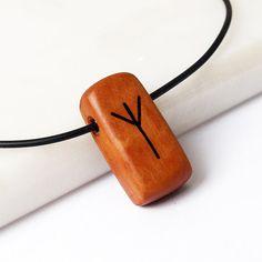 Rune Algiz Viking rune Nordic jewelry Norse pendant by BDSart