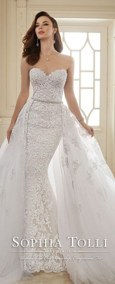 Sophia Tolli Spring 2016 Wedding Dress - Wedding Dresses with Detachable Skirts