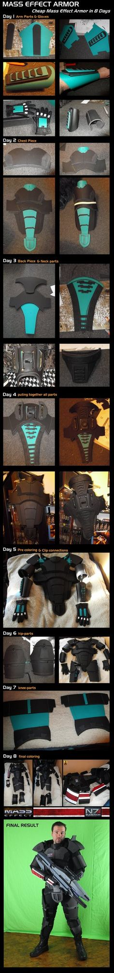 Mass Effect Armor Step by Step Overview Once I've found here on Dev-Art many good Mass Effect costumes, I wanted to make one for myself... In this picture you can witness the various stages of the ...