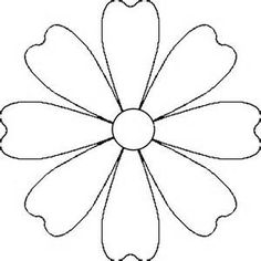 flower daisy 8 petal template by baj a flower that could be a daisy