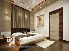 Visualization is expert in architectural rendering, walkthrough, architecural visualization, animation, interior design and realistic rendering Room Design Bedroom, Bedroom False Ceiling Design, Home Room Design, Modern Bedroom Design, Bedroom Styles, Home Decor Bedroom, Apartment Interior, Apartment Design, 3 D